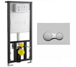 Инсталляция для унитаза VitrA 742-5800-01 с кнопкой смыва Sirius 740-0480 глянцевый Хром